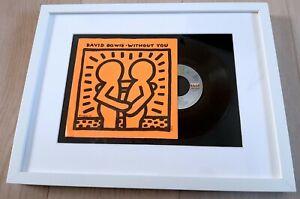 Original KEITH HARING 1983 David Bowie Vinyl 45 tours not banksy shepard obey
