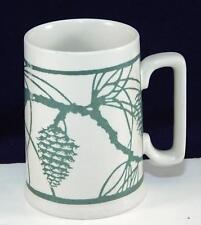 Peet's Coffee Arts & Crafts Green Pine Cone Acorn Mug Yoshiko Yamamoto Design