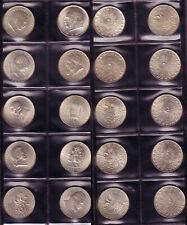komplette Sammlung 2 Schilling Silber 1928 - 1937, 10 verschiedene Münzen