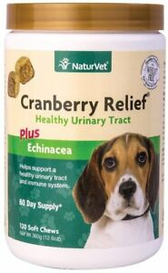 Cranberry Relief Echinacea Naturvet Soft Chew Support Urinary Tract Dog 120 ct