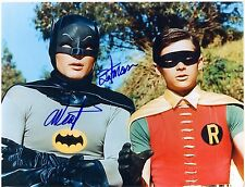 Adam West Signed Batman and Robin Photo