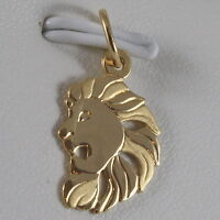 SOLID 18K YELLOW GOLD ZODIAC SIGN PENDANT, ZODIACAL CHARM, SATIN, MADE IN ITALY