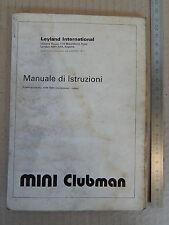 INNOCENTI MINI CLUBMAN LEYLAND 1977 LIBRETTO USO E MANUTENZIONE MANUALE MANUAL