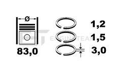 4x Kolbenringsatz R4000300 MAZDA 626 Premacy 1,8 2,0i FP FS