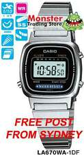 AUSSIE SELLER CASIO LADIES VINTAGE RETRO LA670WA-1D LA670WA LA670 WARRANTY