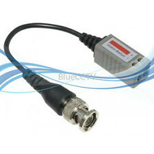 Single Ch Passive Video Balun with Wire for CCTV SECURITY CAMERAS, Pack of 10