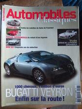AUTOMOBILES CLASSIQUES MAGAZINES No 148 BUGATTI VEYRON JAGUAR FERRARI BMW