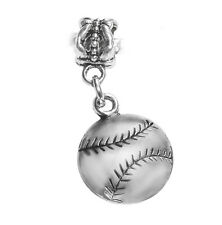 Baseball Softball Sports Ball MLB Son Dangle Charm for European Bead Bracelets