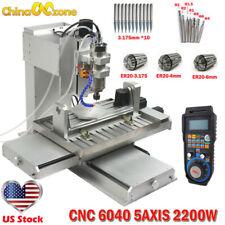 Cnc 5axis 6040 2200w Engraver Machine Mach 3 Usb Cnc Cutingmilling Machine 110v