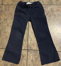 Pre-Owned Old Navy Girls Adjustable Waist Navy Blue School Uniform Pants Size 5T