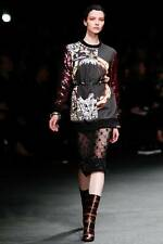 AUTH RUNWAY FW2013 GIVENCHY sequined sleeves printed sweatshirt S