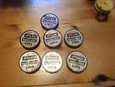 Lot of 7 Vintage Atlas monofilament fishing line spools