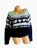 Medium Victorias Secret Sweater Cozy Soft Pullover Fair Isle Long Sleeve NWT