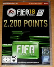 FIFA 18 Ultimate Team 2.200 Points PC Game Digital Download - Keycode (Deutsch)