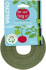 50 ft x 1/2 in Garden Ties Soft Plant Wire Twist Tie Green-Recycled Plastic