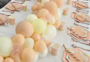 Blush Balloons Cream wedding bride engaged ceiling baby birthday party garland