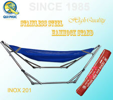 Heavy Duty Folding Hammock and Steel Stand with Carrying Bag Capacity 140kg