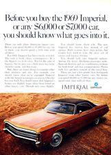 1969 Imperial LeBaron Chrysler Original Advertisement Print Art Car Ad J512
