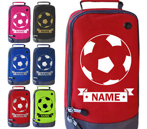Personalised Football Boot Bag Boys Girls Footy Any Name Kids Sports PE Kit