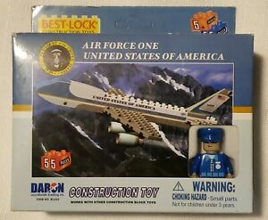 United States Air Force One Construction Toy By Best Lock - USA President Plane