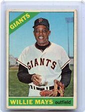 1966 TOPPS BASEBALL #1 WILLIE MAYS, SAN FRANCISCO GIANTS, HOF, 011915
