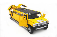 Hummer H6 Diecast Sound Light Pullback Model Toy Car New no Box Yellow