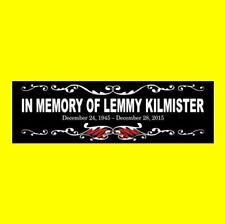"""""""In Memory Of Lemmy Kilmister"""" Motorhead Bumper Sticker Ace of Spades Overkill"""