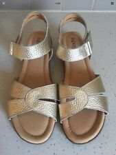 Supersoft Diana Ferrari Leather Sandals Gold Flexsandal New Size 8 #62