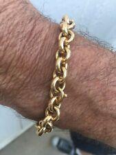 18k Yellow gold bracelet Used - 14.19 Grams - Hollowed Links