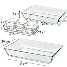 FORNO al servizio di vetro piatto PASTA lasangne Torrefazione Salsa Pentola Grande grandi piatti da forno