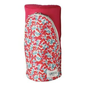 Sonic Sma Sta Standing Pen Case - flowered pattern /Red  FD-7169-R