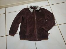 North Face Girls Osito Brown Fuzzy Hooded Soft Fleece Jacket sz Xl Ps708