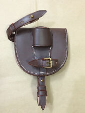 WWI Leather Horseshoe Case - DARK BROWN