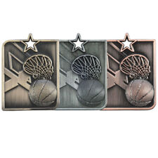 Centurion Basketball Medal and Ribbon Medals & Ribbons Gold Silver & Bronze