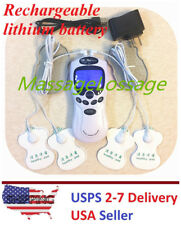 TENS Unit Rechargeable Electrical Muscle Stimulator Therapy Pain Relief Kit