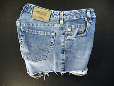 Silver CUTOFF JEANs SHORTS Cut Off W 24 Hot Pants Daisy Duke Button-fly