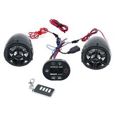 Motorcycle UTV ATV Speakers Audio Sound Stereo System Bluetooth MP3 FM Radio