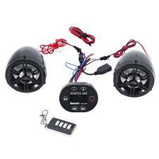 Motorcycle Bike Waterproof ATV UTV Audio FM Radio MP3 iPod Stereo Speaker System