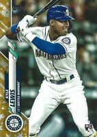 2020 Kyle Lewis Gold Stars RC Parallel Topps Series 1 #64 Mariners Rookie Card