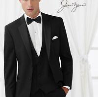 "Mens Slim Fit ""Ridge"" 100% Merino Wool Tuxedo Jacket w/ Flat Front Pants Tux Set"