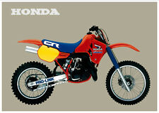HONDA Poster CR500 R CR500R VMX 1985 Suitable to  Frame