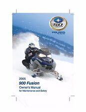 Polaris Owners Manual Book 2005 900 Fusion