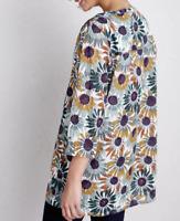 NEW Seasalt Aventurier White Grey Floral Tunic w/Pockets Was £49.95 Now £27.95