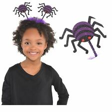Mini Glitter Spider Creepy Crawly Kids Headbopper Headband Halloween Accessory