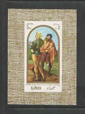 AJMAN Minkus Catalog # 200 SOUVENIR SHEET IMPERF MNH  1968 DURER PAINTING