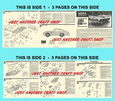 Airfix 1966 James Bond 007 ASTON MARTIN db5 1:24 SCALA foglio di istruzioni