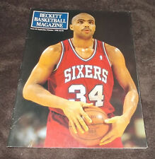 NBA Basketball Beckett Magazine Sept./Oct. 1990 Issue 4 Charles Barkley Sixers