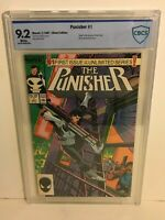The Punisher vol 1 White Pages CBCS 9.2 Marvel Comics 1987