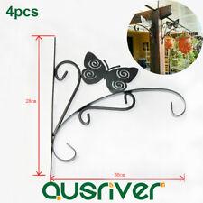 4pcs Iron Plant Hook Flowers Pot Hanger Wall Mount Bracket Garden Decor Basket