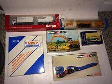 6 Vintage Kibri,Herpa,ROCO,Trident Trucks,Cars,Dozers HO Built Models,Kits